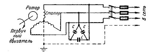 Схема включения двигателя в качестве генератора
