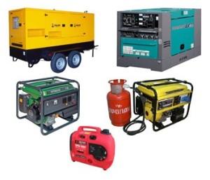 Бензиновые, дизельные и газовые генераторы