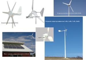 Различные виды ветрогенераторов