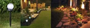 Газонные или садовые солнечные светильники