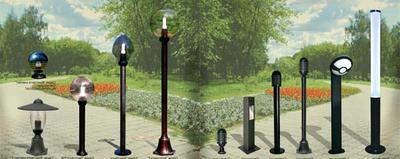 Различные виды и формы светильников для дачи на солнечных батарейках